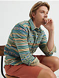 Jacquard Shirt Jacket, GREEN STRIPE