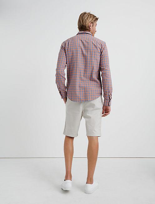 Double Weave Mason Workwear Shirt, BLUE/ORANGE