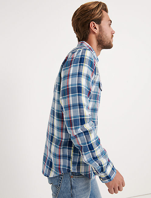 Slim Fit Indigo Western Shirt