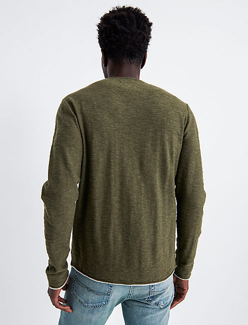 WELTER WEIGHT V-NECK, IVY GREEN