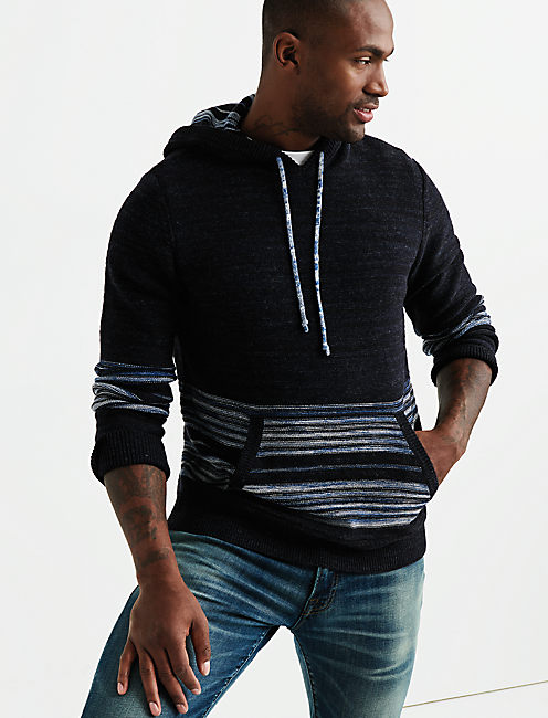 STRIPED NOVELTY HOODIE,