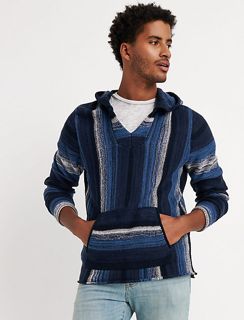 BAJA SWEATER, BLUE MULTI