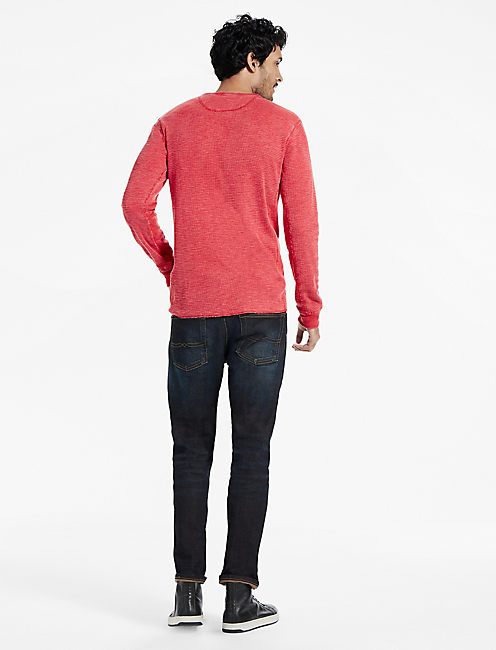 THERMAL HENLEY, POMPEIAN RED