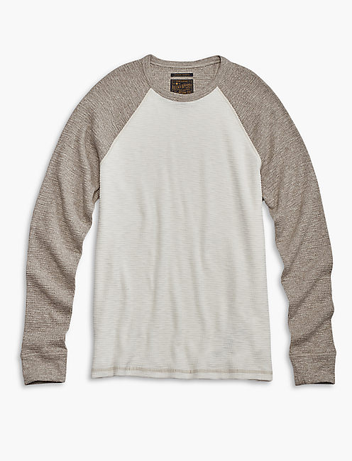 COLOR BLOCK THERMAL CREW, MARSHMALLOW