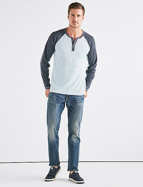 Lucky Venice Burnout Colorblock Thermal Henley