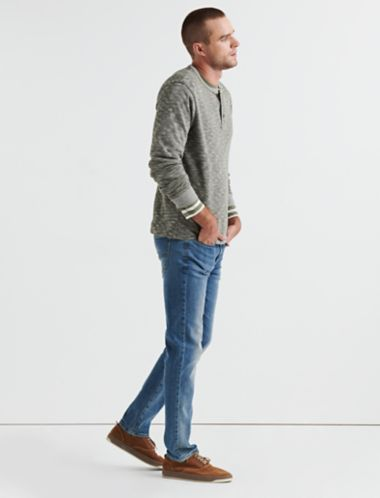 Lucky Double Knit Heather Henley