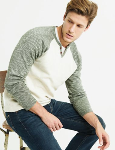 Lucky Long Sleeve Double Knit Notch