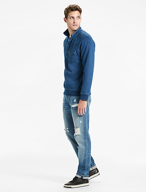 Lucky Indigo Button Pullover