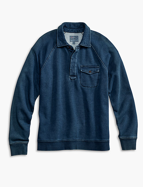 INDIGO BUTTON PULLOVER,