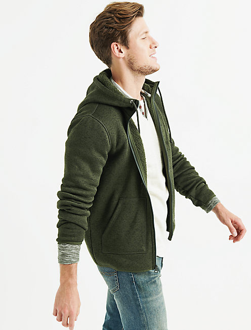 Lucky Shearless Fleece Zip Hood