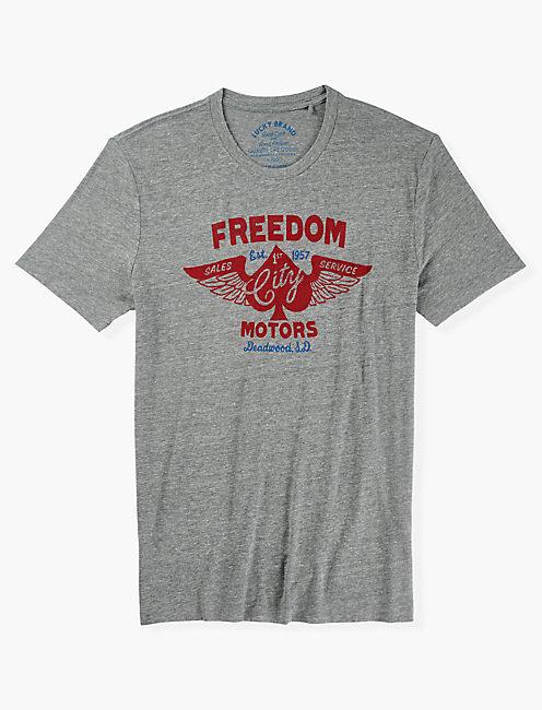 FREEDOM MOTORS TEE, GREY