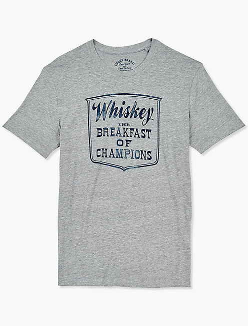 WHISKEY BREAKFAST TEE, GREY