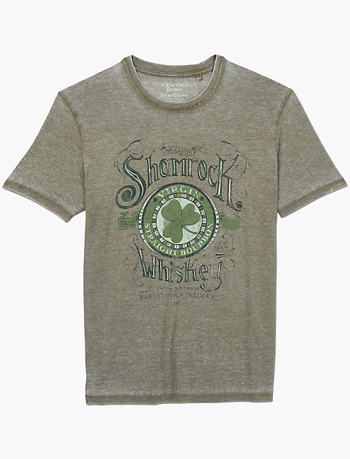 SHAMROCK WHISKEY TEE, DARK OLIVE