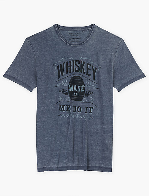 WHISKEY MADE ME DO IT TEE, AMERICAN NAVY