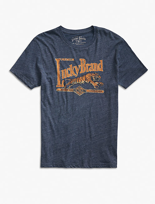 S/S LUCKY BRAND TIGER, AMERICAN NAVY