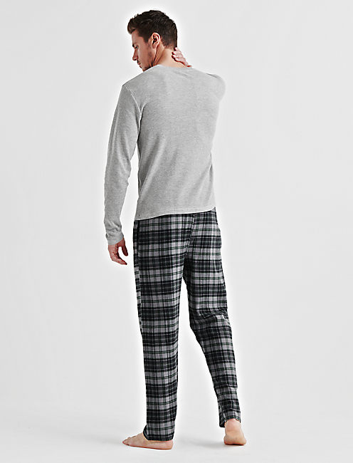 GIFT Long Sleeve THERMAL CREW & FLANNEL PANT,