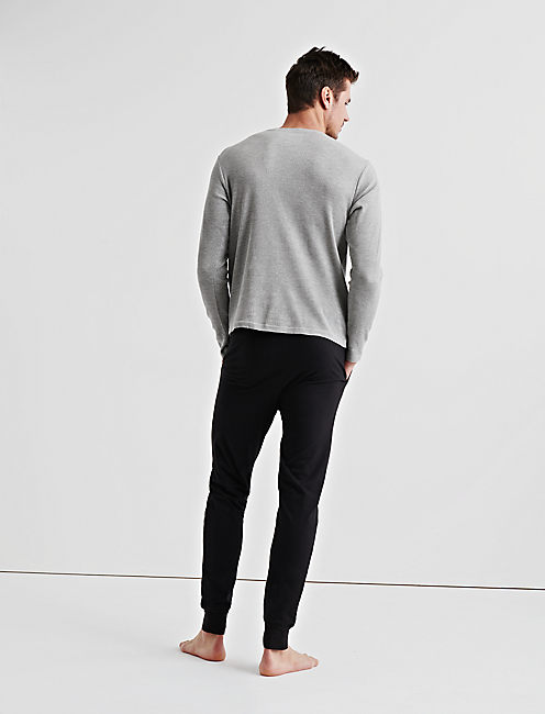 GIFT Long Sleeve THERMAL HENLEY & SUEDED JOGGER,