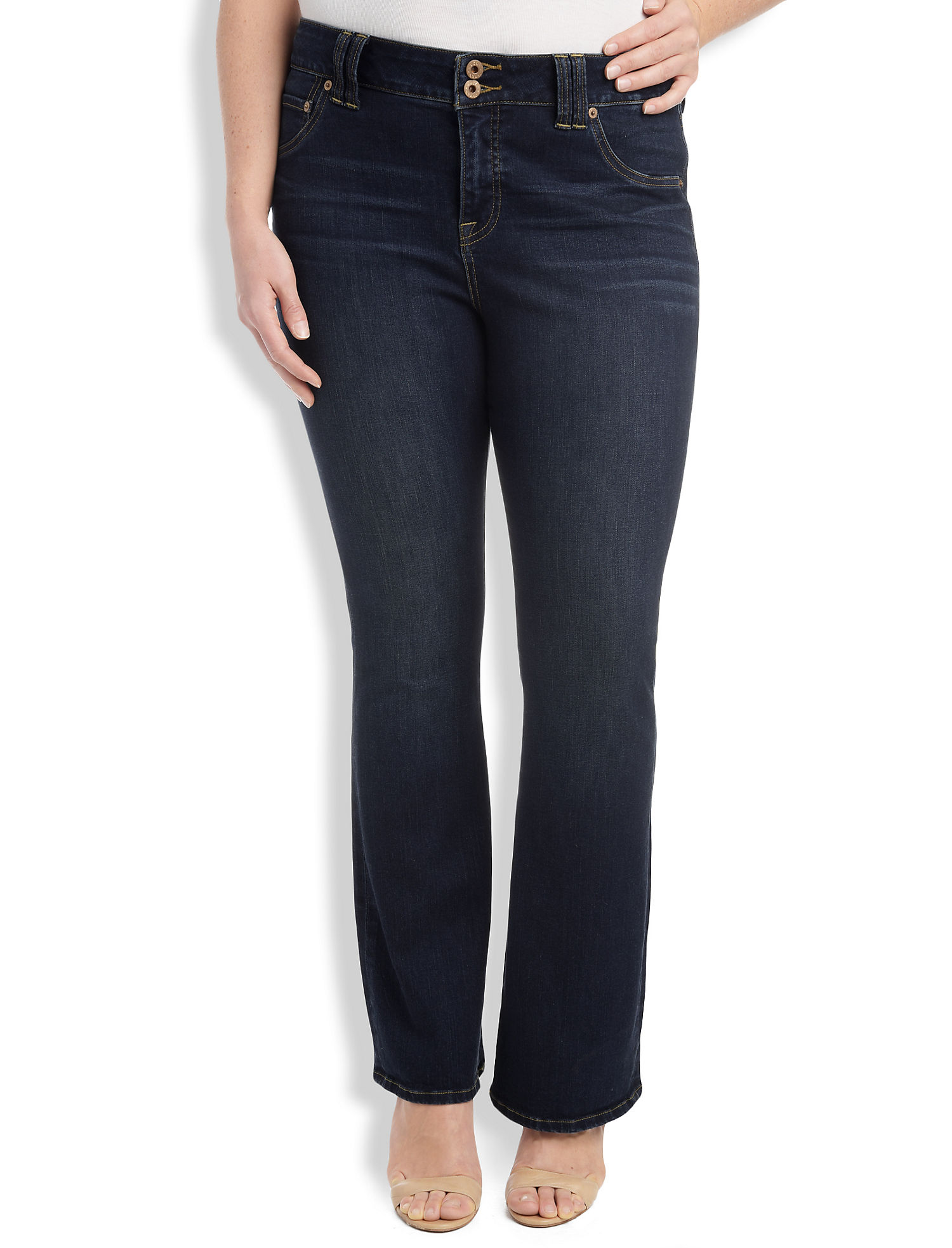 Plus Size Emma Bootcut Jean In Grissom | Tuggl