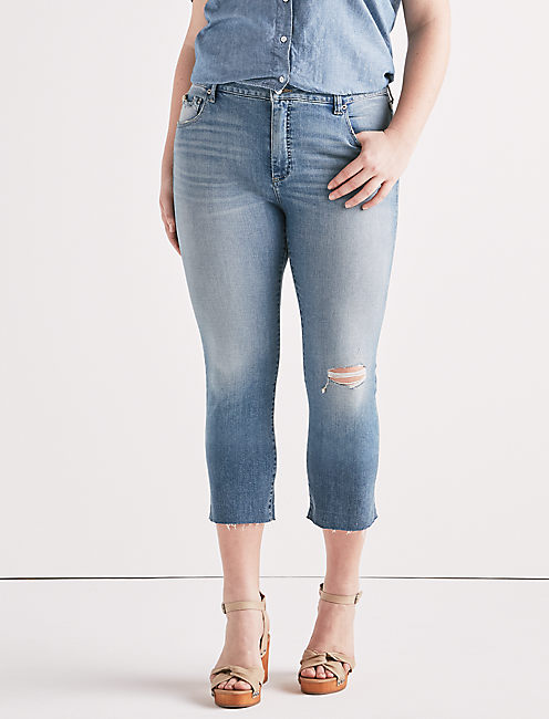 EMMA HIGH RISE CROP JEAN IN CITRUS VALLEY,