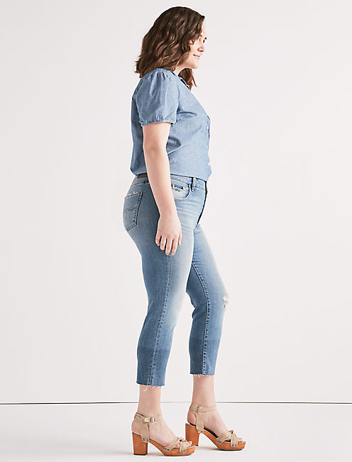 Lucky Emma High Rise Crop Jean In Citrus Valley
