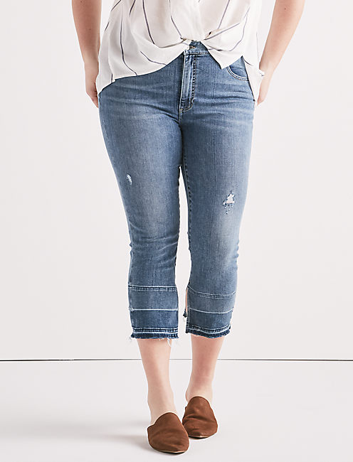 Plus Emma Crop Jean with Fray Hem, LORAIN-P