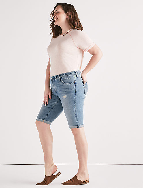 Lucky Plus Ginger Bermuda Jean Short