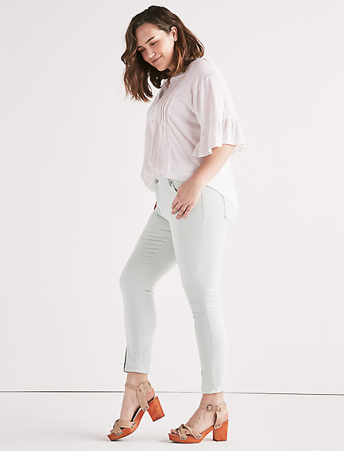 Plus Ginger Skinny Jean with Split Hem,