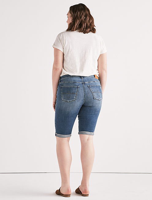 Plus Ginger Bermuda Jean Short, TAMARAC-FRAY