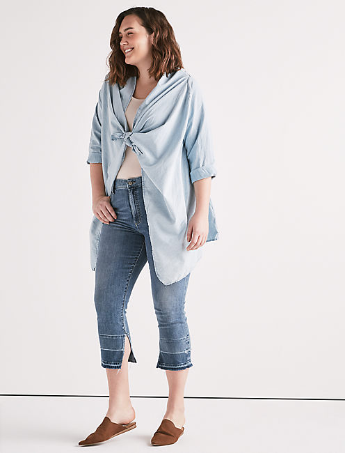 Lucky Knotted & Draped Top