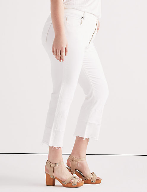 Plus Emma Mini Boot Jean in Clean White,