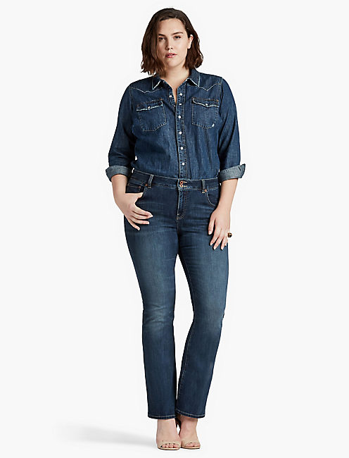 Lucky Plus Size Emma Bootcut Jean In Great Falls