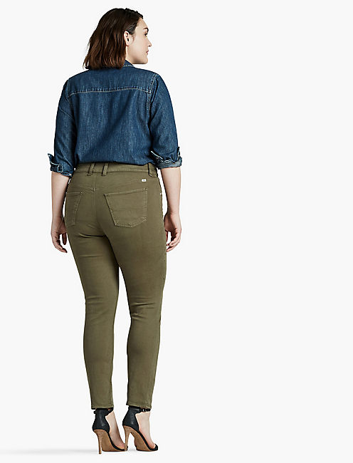 PLUS SIZE EMMA STRAIGHT LEG JEAN IN DESERT IVY,