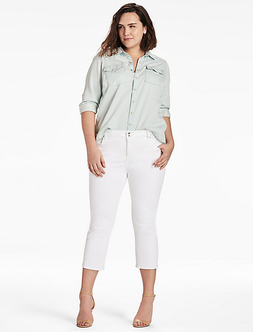 Lucky Plus Size Emma Cropped Jean In Clean White