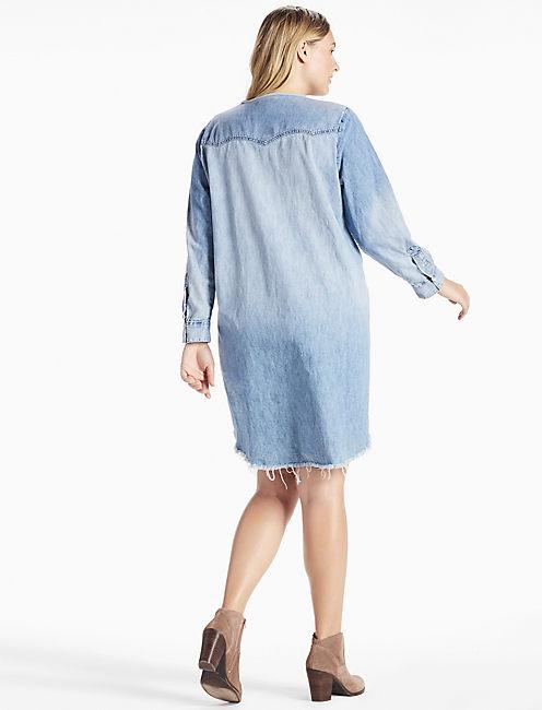 Plus Size Denim Western Shirt Dress Lucky Brand