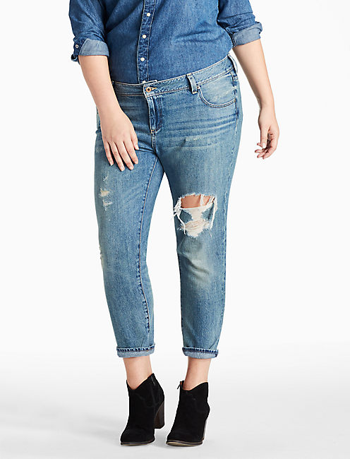 PLUS SIZE GEORGIA BOYFRIEND JEAN IN HATCH, HATCH