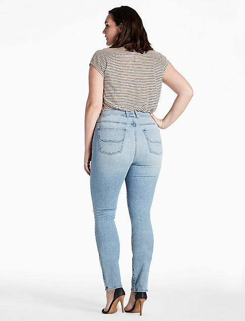 PLUS SIZE EMMA STRAIGHT LEG JEAN IN BURNET,