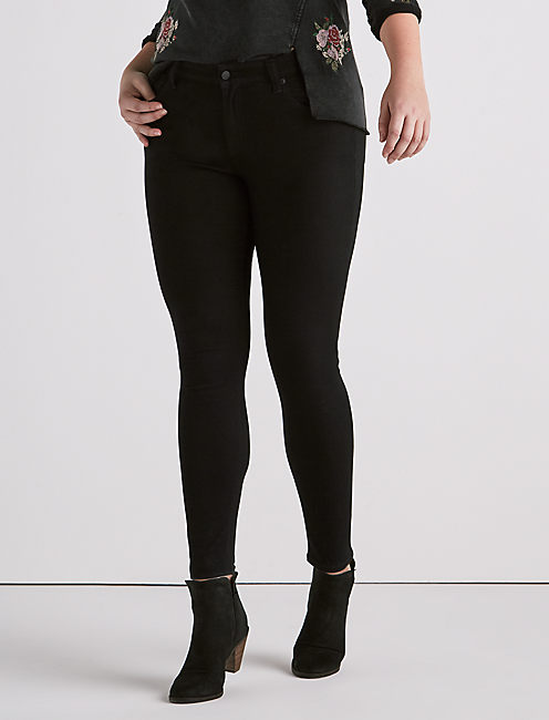 Plus Ginger Skinny Jean in Bell Road Black,