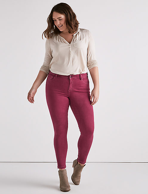 Lucky Plus Size Ginger Skinny Jean In Leslie