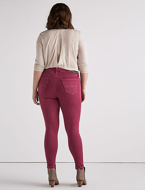 PLUS SIZE GINGER SKINNY JEAN IN LESLIE,