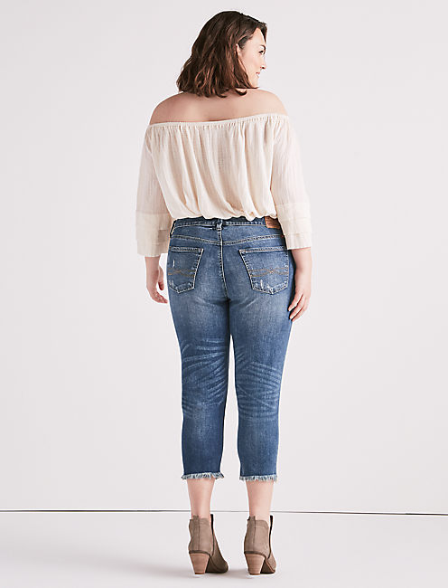 PLUS SIZE REESE BOYFRIEND JEAN IN BEACH DRIVE,