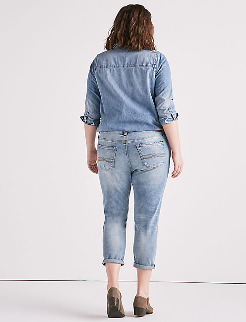 PLUS SIZE REESE BOYFRIEND JEAN IN KONA,