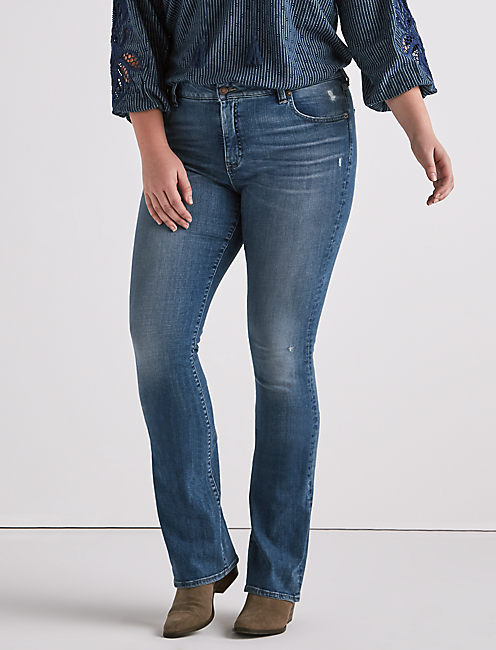 PLUS SIZE EMMA BOOTCUT JEAN IN STOW,