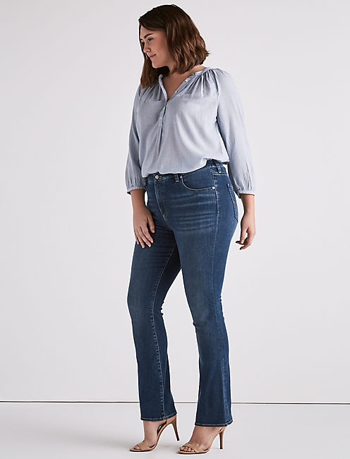 Lucky Plus Size Emma Boot Cut Jean In Plata
