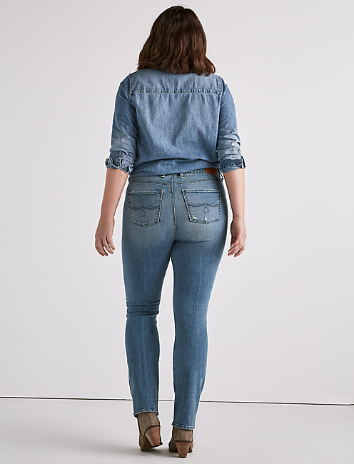 PLUS EMMA STRAIGHT JEAN,