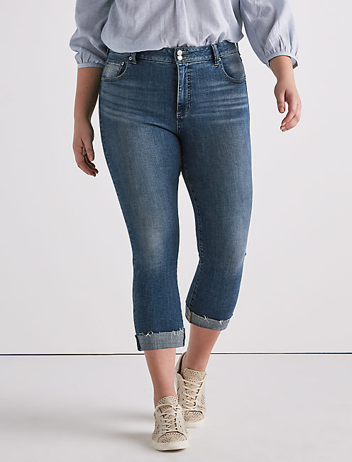 Plus Emma Crop Jean, SUNBEAM-P
