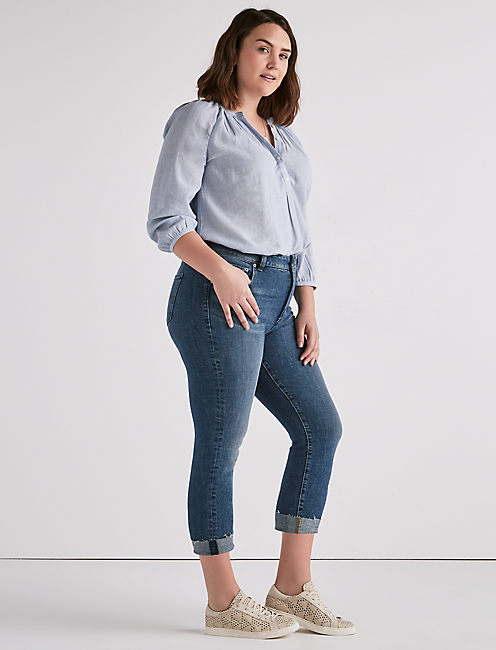 Lucky Emma Crop Jean In Sunbeam