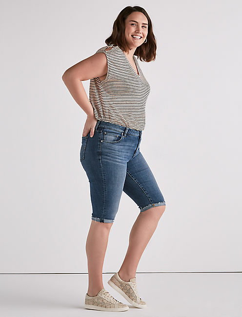 Lucky Plus Size Ginger Bermuda Short In Sunbeam