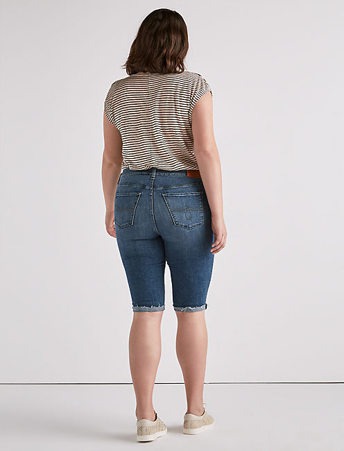 Plus Ginger Bermuda Jean Short,