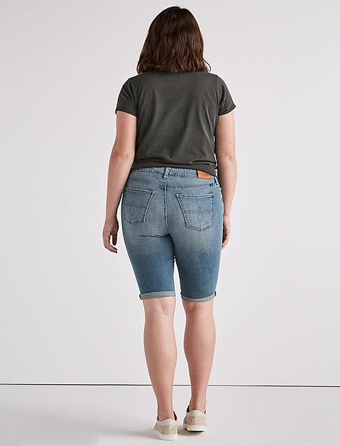 Plus Ginger Bermuda Jean Short,