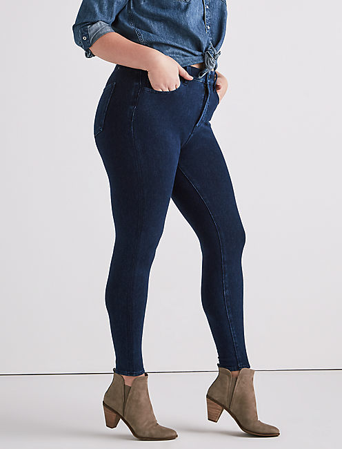 PLUS SIZE EMMA KNIT LEGGING JEAN IN ARBOR,